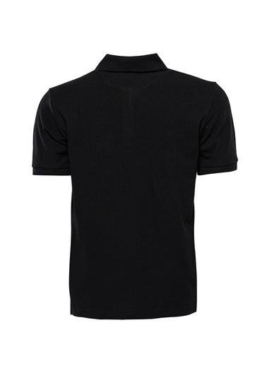 Wessi Erkek Slim Fit Polo Yaka Oxford Tişört Siyah